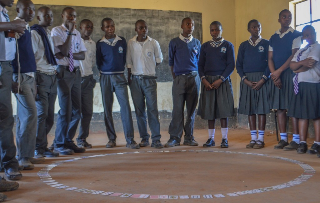 A Maths Club session in Rafiki Secondary School, Kitale.