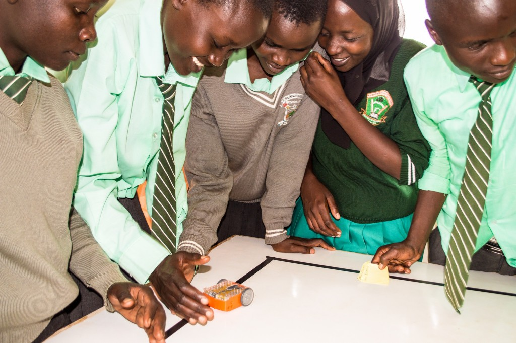St Philips high Tuyoo-Kony. School. Kitale students learning programming using Edison Robots during Africa Code Week Supported by Google.